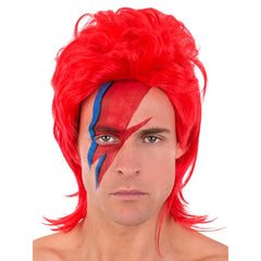 Ziggy Red Mullet Wig