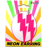 Neon Lightning Earrings-Asst Colours