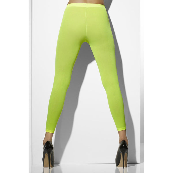 Neon Green Opaque Footless Tights