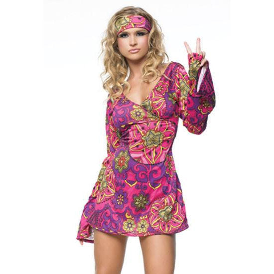 sc 1 st  Cracker Jack Costumes Brisbane & Pink Floral Hippie - Hire u2013 Cracker Jack Costumes Brisbane