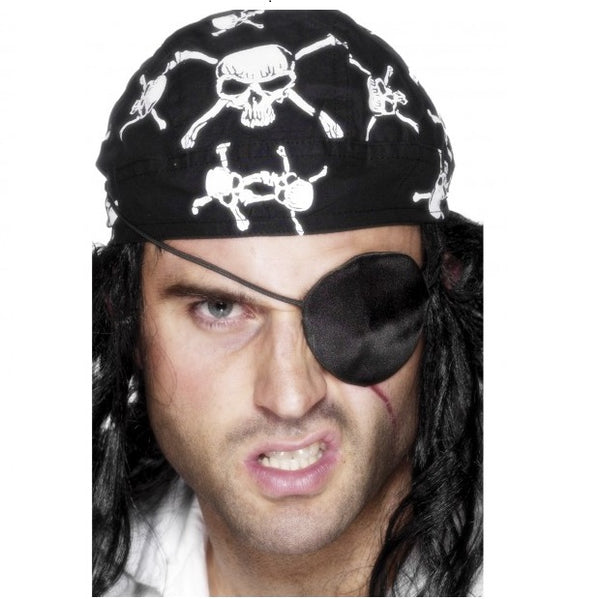 Deluxe Pirate Eyepatch - Black