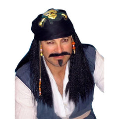 Pirate Captain Wig with Bandanna