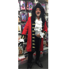 Red Pirate Captain Costume Hire