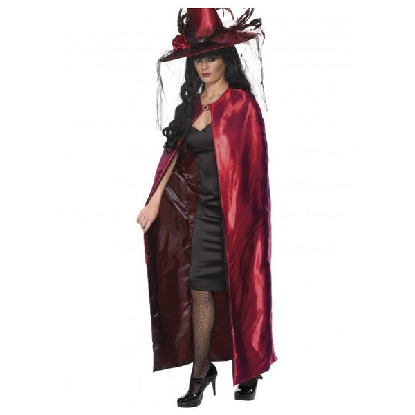 Ladies Reversible Cape Red and Black