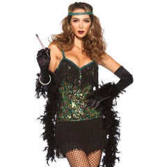Sequined Feather Flapper - Hire