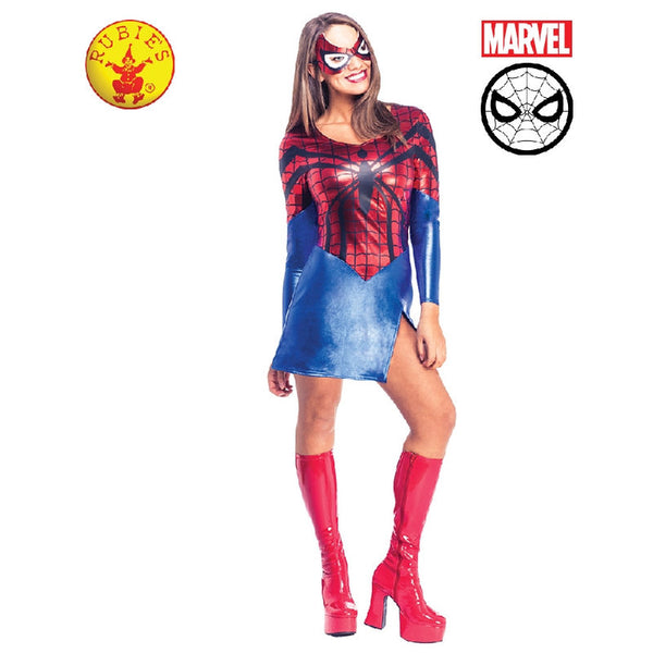Spider-Girl Dress and Mask - Adult
