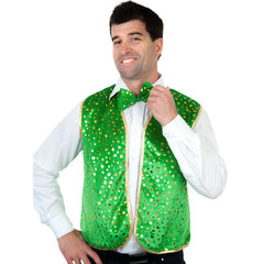 Shamrock Vest and Bow Tie