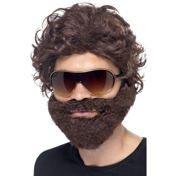 Stag Do Kit - Mens Short Brown Wig & Beard