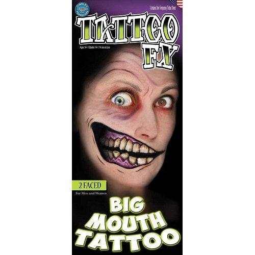 Tinsley FX Temp Tattoo - 2 Faced Big Mouth