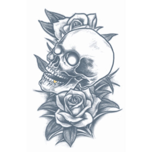 Tinsley FX Temp Tattoo - Skull and Roses