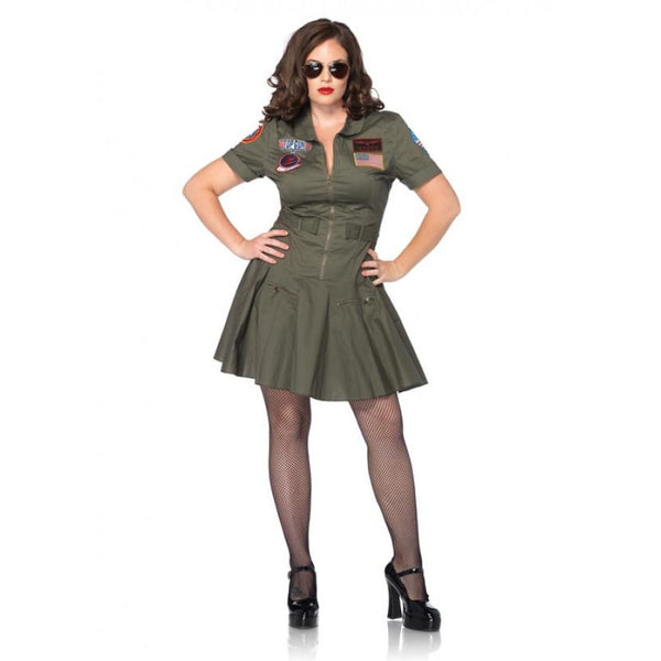 Top Gun Flight Dress Plus Size - Hire