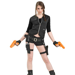 Treasure Huntress Thigh Holster and Guns