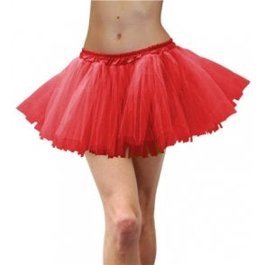 Tulle Tutu Adult-Red
