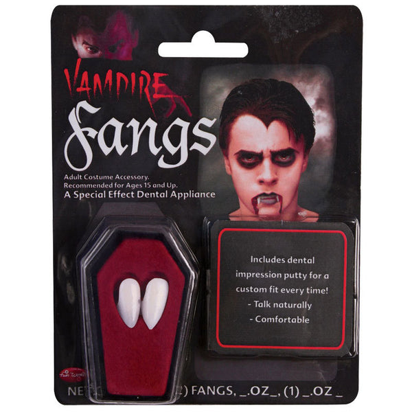 Vampire Fangs in Coffin with Dental Putty