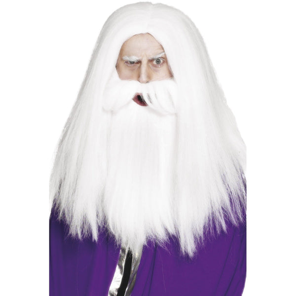 Magician Wig and Beard Set