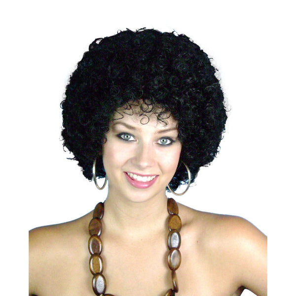 "Wig-Mini Disco Afro 6"" Black"