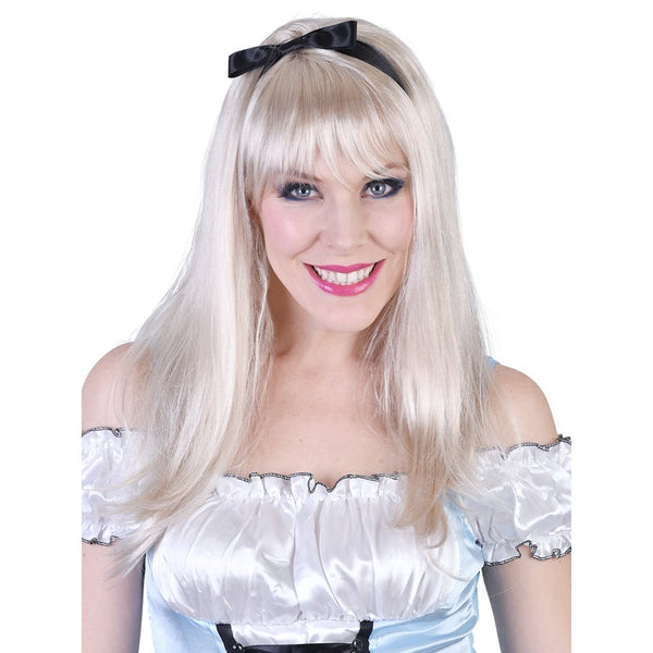 Alice Long Blonde Wig with Fringe