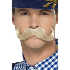 Authentic Bavarian Oktoberfest Moustache - Blonde