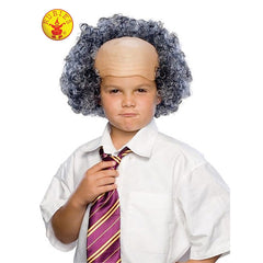 Bald Man Wig with Grey Curly Sides - Child
