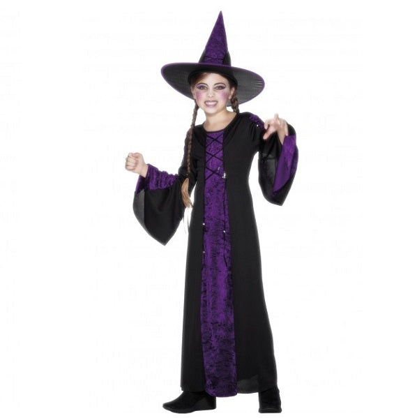 Black and Purple Bewitched Costume - Girls
