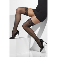 Black Lace Tops Fishnet Hold Ups