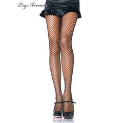 Black Lycra Fishnet Pantyhose - Leg Avenue