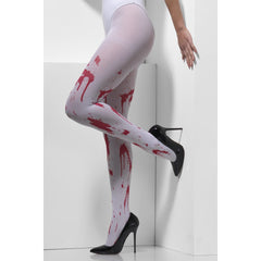 Blood Splattered Print Opaque Tights