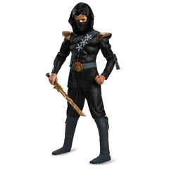 Black Ninja Classic Muscle Costume for Boys