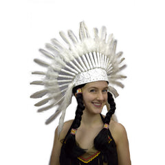 Indian Headress - White