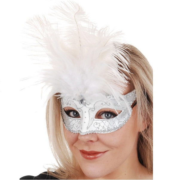 Carmela Feather Mask