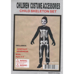 Child Skeleton Set Costume