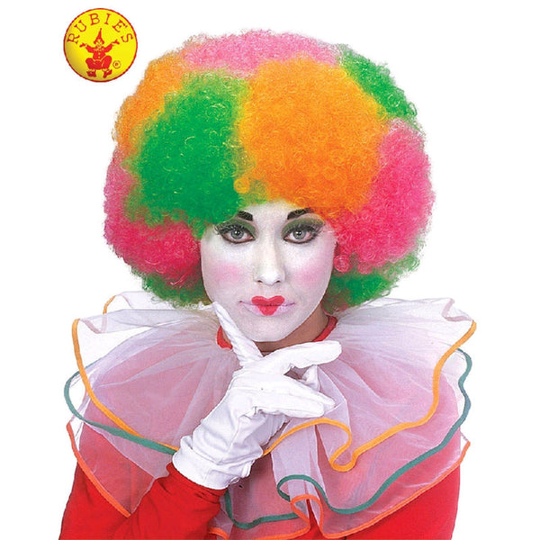 Clown Multi Colour Neon Wig - Adult