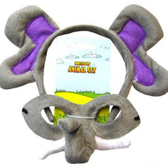 Elephant Headband & Mask Set