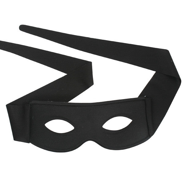 ZORRO with Ties Small Black Eye Mask