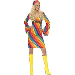 70s Rainbow Hippie Costume