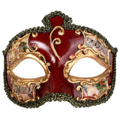 Salvatore Men's Masquerade Eye Mask in Red