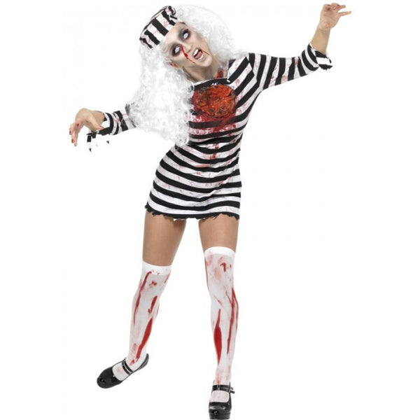 Zombie Convict Costume - Ladies