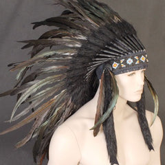 Indian Headdress - Large Black
