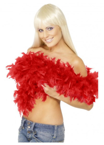 Red Deluxe Feather Boa