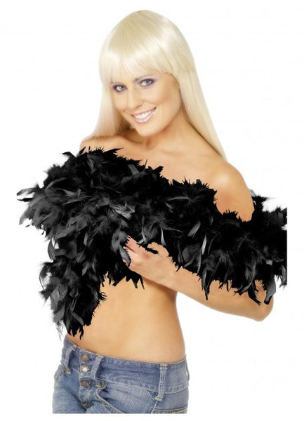 Black Deluxe Feather Boa