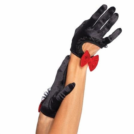 Gloves - Cropped with Red Bow