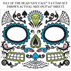Day of the Dead Facial Tattoos - Male