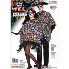 Day of the Dead Poncho - Unisex