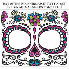 Day of the Dead Facial Tattoos - Female