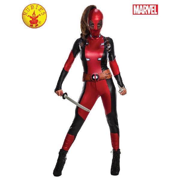 Deadpool Secret Wishes Ladies Fancy Dress Costume