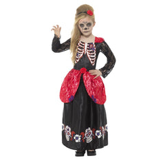 Deluxe Day of the Dead Costume - Girls