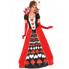 Deluxe Queen of Hearts Costume by Leg Avenue