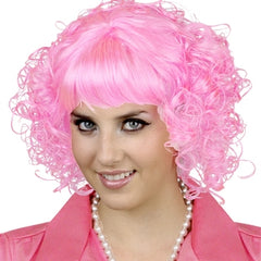 Beauty School Pink Curly Wig