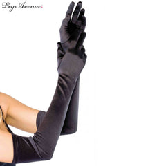 Gloves Extra Long Satin Leg Avenue - Asst Colors