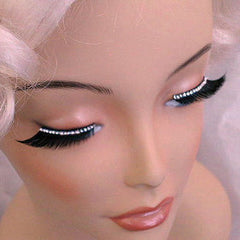 Eyelashes - Black with Bright Diamontes
